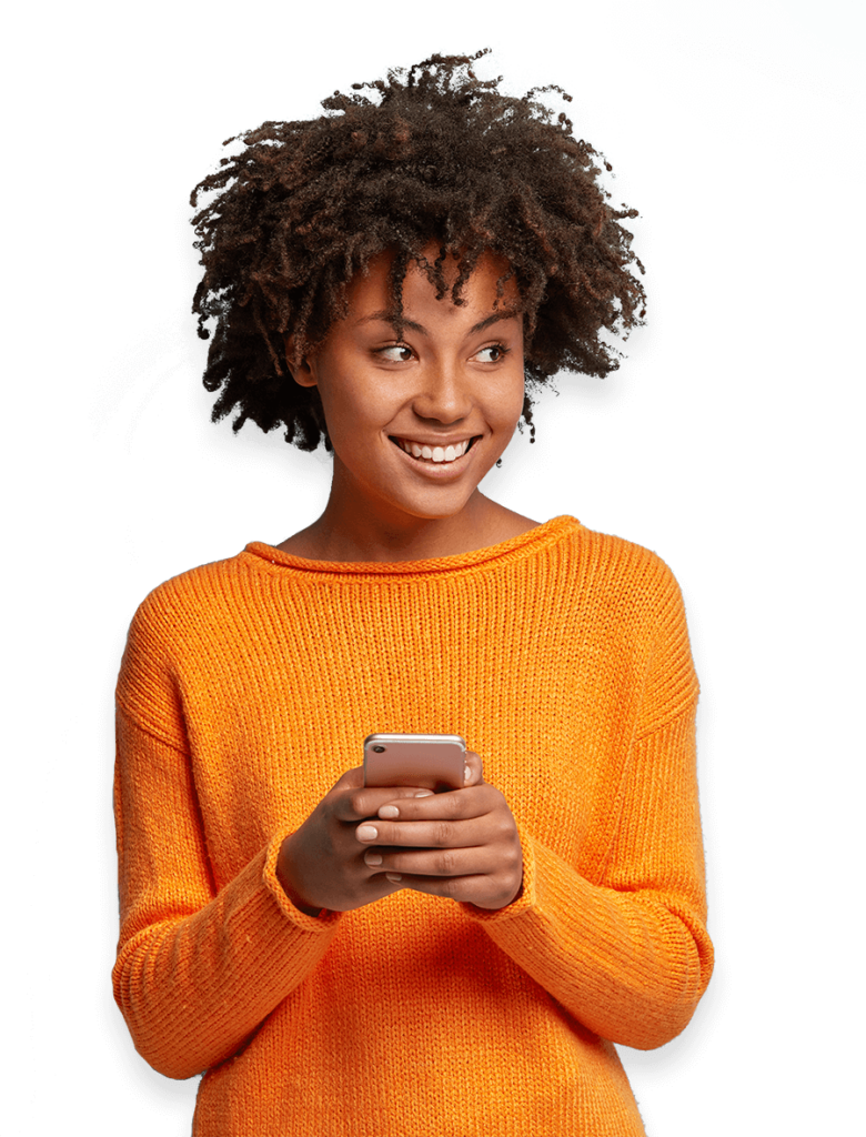 Image of girl texting